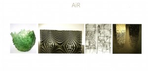 Invite for the AiR exhibition private view at the Craft Study Centre