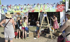 UCA stand in the main drag at Glastonbury 2010